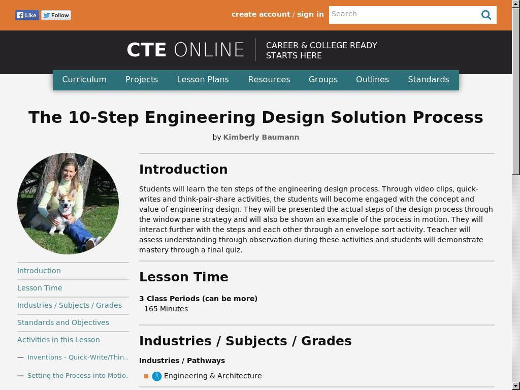 The 10-Step Engineering Design Solution Process