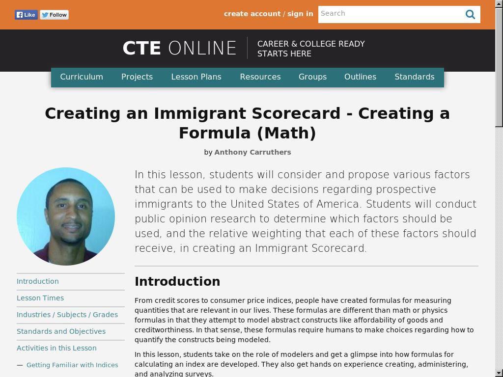 Creating an Immigrant Scorecard – Creating a Formula