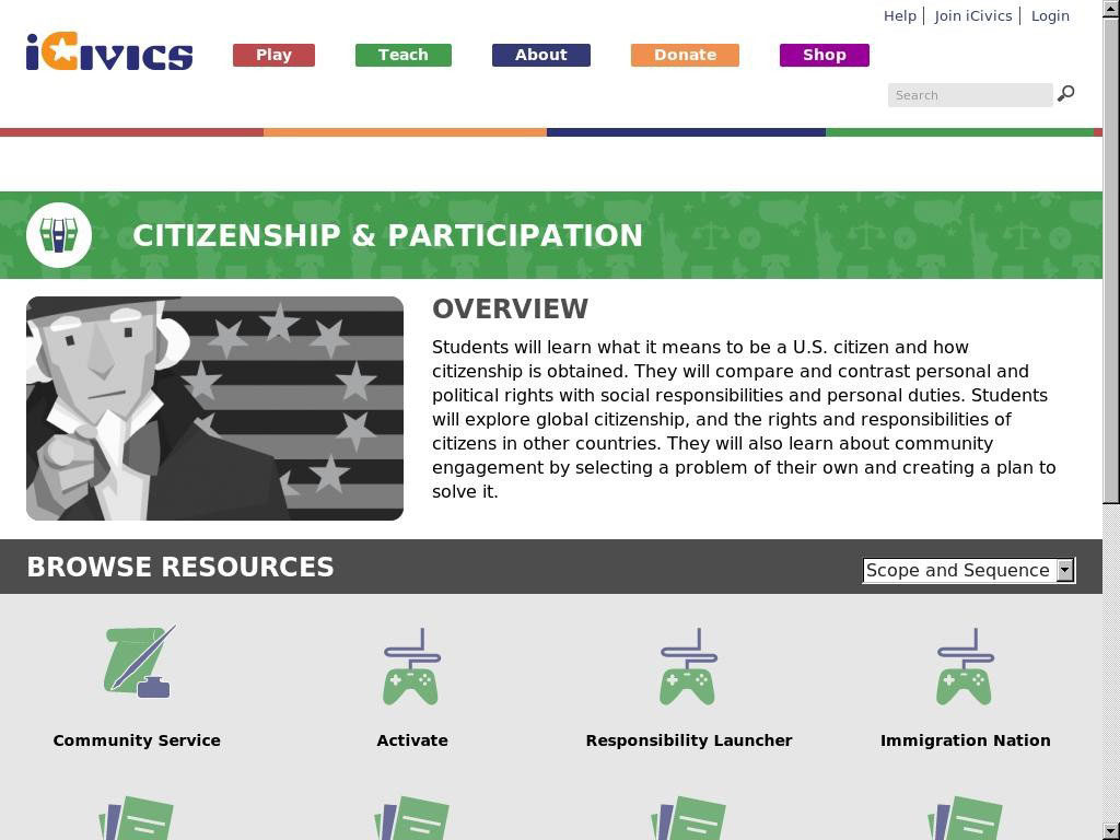 Citizenship and Participation