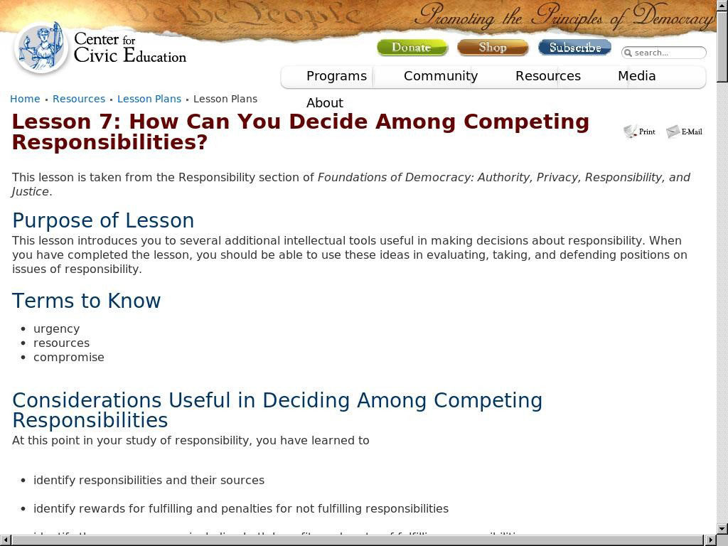 How Can You Decide Among Competing Responsibilities?