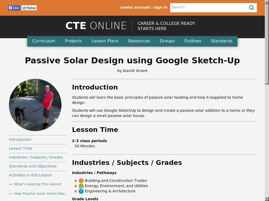 Passive Solar Design using Google Sketch-Up