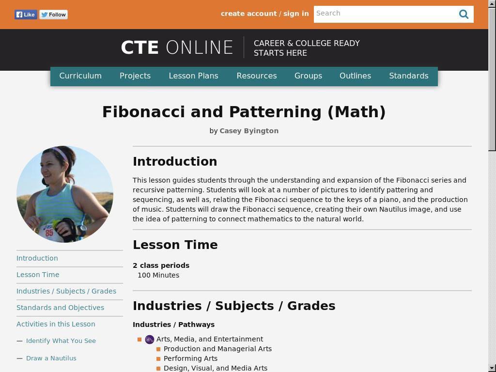 Fibonacci and Patterning (Math)